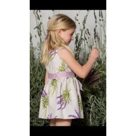 Vestido flor lavanda, Pilar Batanero