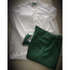 Conjunto camisa y pantalón Verde