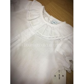 camisa cuello volante paloma de la o