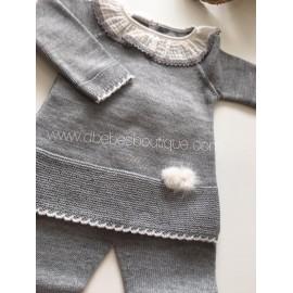 conjunto jersey y polainas lana paz rodriguez