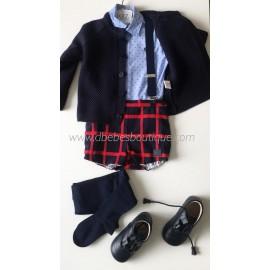 conjunto camisa y pantalon cuadros dolce petit
