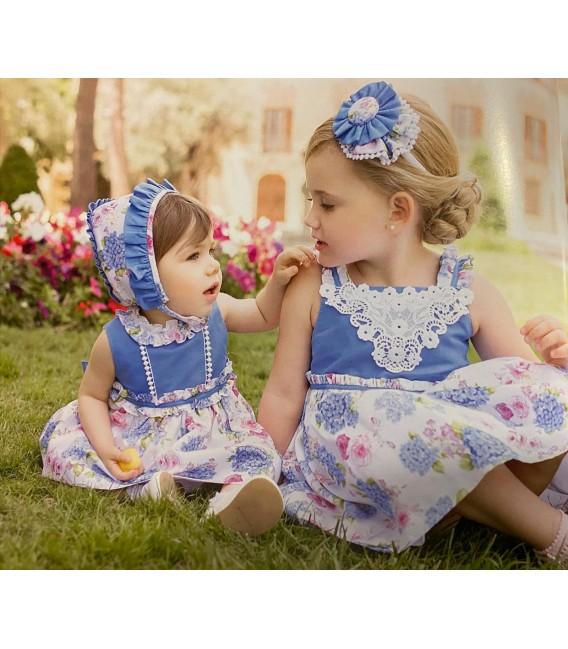 vestido flores detalle pecho dolce petit