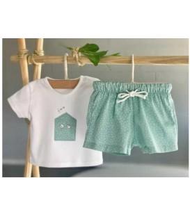 conjunto camiseta y pantalon lunares valentina bebes