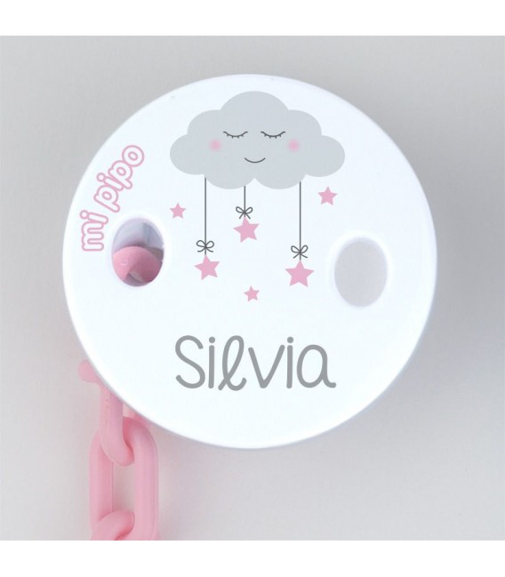 Broche Pinza Deco personalizado nubes