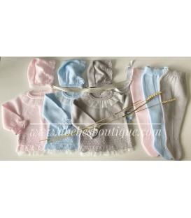 conjunto tres piezas lana