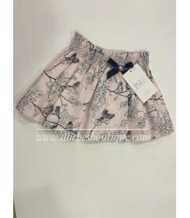 falda estampado pajaros