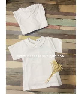 Camiseta algodon basica cuello bebe