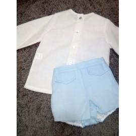 Conjunto camisa y ranita Blanca Valiente