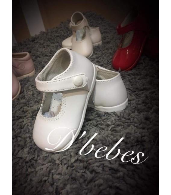 Zapato broche Blanco, Bubble Bobble