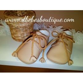 Zapato piel Camel , Noa Baby