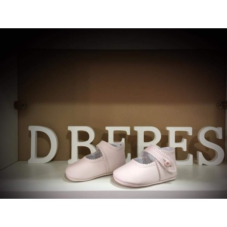 bc2ca404a23 Zapato piel ondas rosa Noa Baby